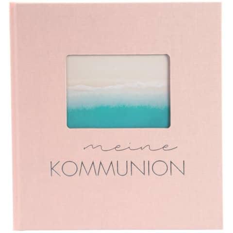 Kommunionsalbum Pastell rose