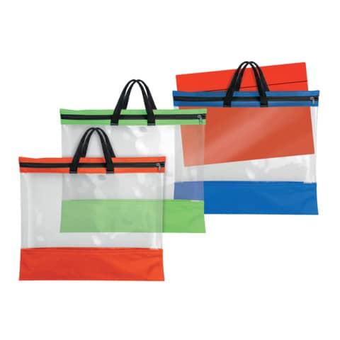 VELOFLEX Reißverschlusstasche A3 PVC blau