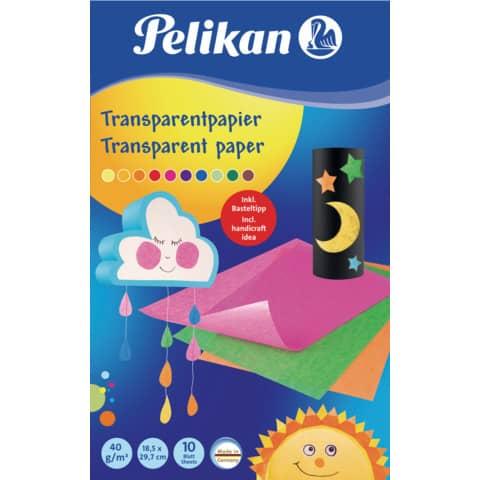 #10xPELIKAN Transparentpapier 30x18cm