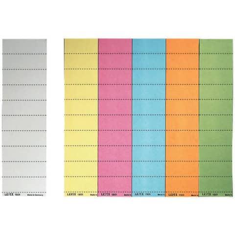 LEITZ Blanko-Beschriftungsschildchen, (B)60 x (H)21 mm, ...