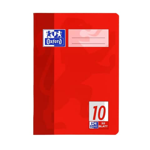 Oxford Schulheft, DIN A5, Lineatur 10 / kariert, 32 Blatt
