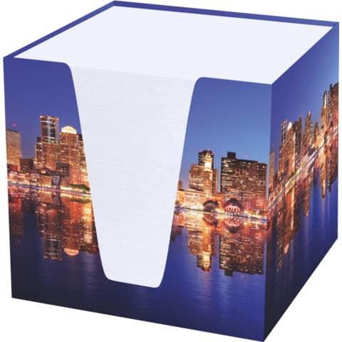 RNK Verlag Zettelbox Skyline, Hartkarton, befüllt