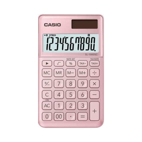 CASIO Taschenrechner SL-1000 SC-PK, Solar-/ Batteriebetrieb