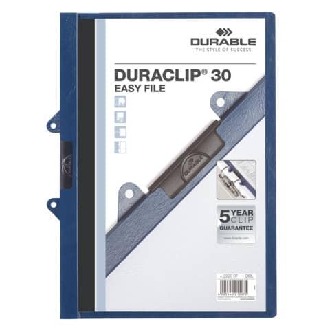 #25xDURABLE Clip-Mappe  dkl.blau