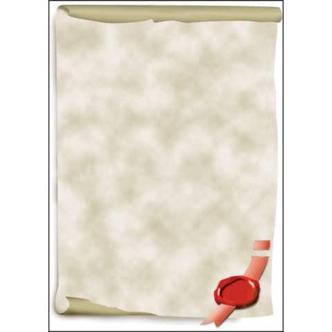 sigel Design-Papier, DIN A4, 185 g/qm, Motiv Urkundenro...