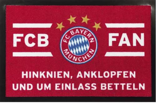 Fussmatte FCB Fan rot/weiss