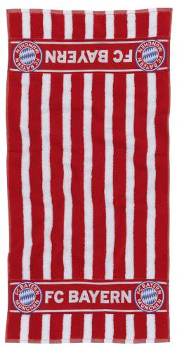 Handtuch rot/weiß 100x50cm
