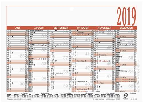 Tafelkalender A5 6 Monate auf einer Seite 210x148mm blau...