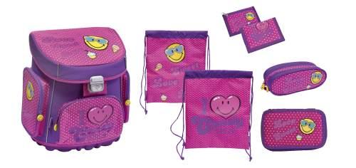 Schulranzenset Smiley pink 5tlg.