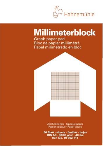 #2xMillimeterpapierblock 80g rot