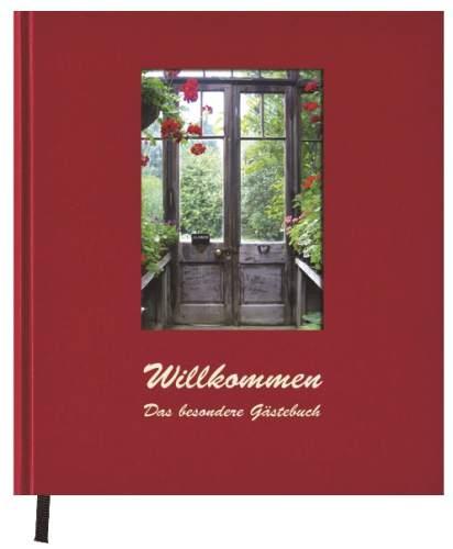 Gästebuch Willkommen rot