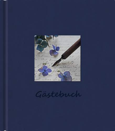 Gästebuch Scriptura blau