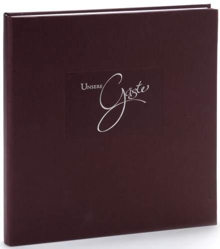 goldbuch Gästebuch Seda, 176 Seiten, braun