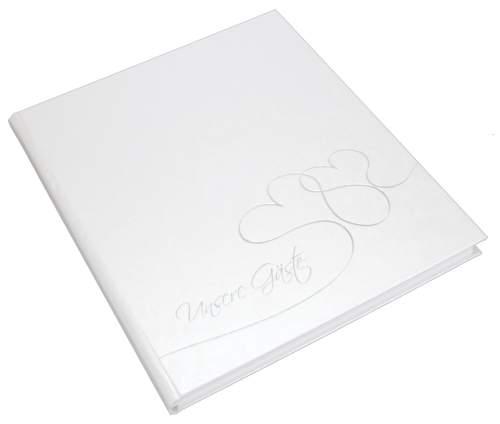 goldbuch Gästebuch Cuore, 176 Seiten, weiß