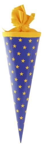 Schultüte 35cm Sterne
