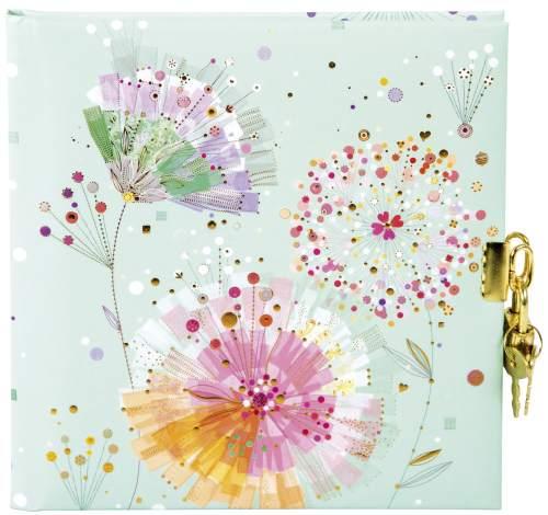 Goldbuch Tagebuch mit Schloss 96 Seiten Primavera mint