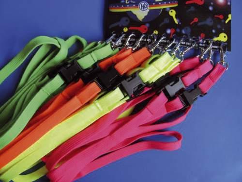 #12xSchlüsselband Lanyard Neon