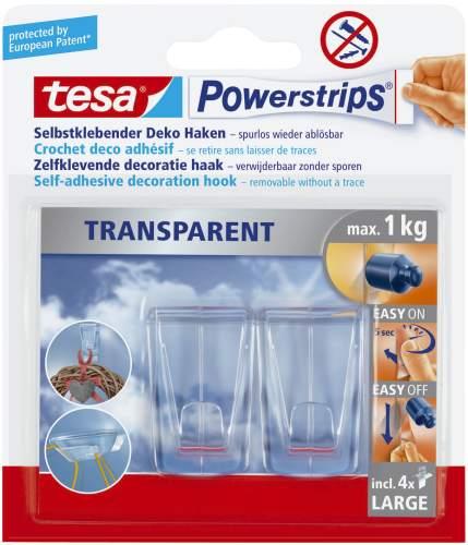 tesa Powerstrips DECO-HAKEN XL, Haltekraft: max. 1,0 kg