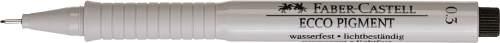 FABER-CASTELL Pigmentliner ECCO PIGMENT 0,3 mm, schwar