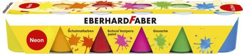 EBERHARD FABER Schulmalfarbe-Set EFA Color Neon, 6er Set