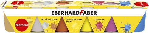 EBERHARD FABER Schulmalfarbe-Set EFA Color Metallic, 6er...