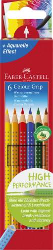 FABER-CASTELL Buntstifte Colour GRIP, 6er Kartonetui