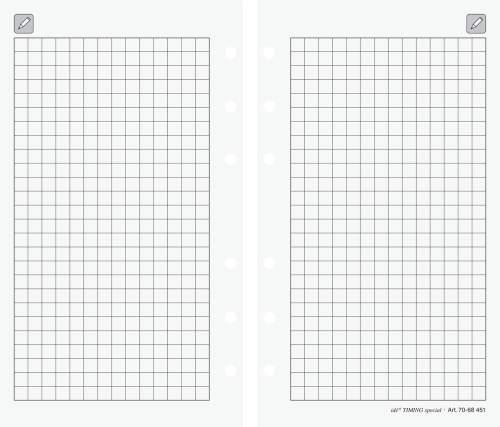 Ersatzeinlage kariert Papier 8,7x15,3cm