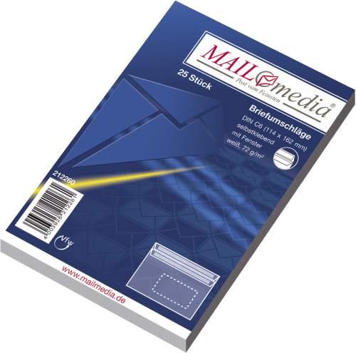MAILmedia Briefumschlag Offset weiß, C6, mit Fenster