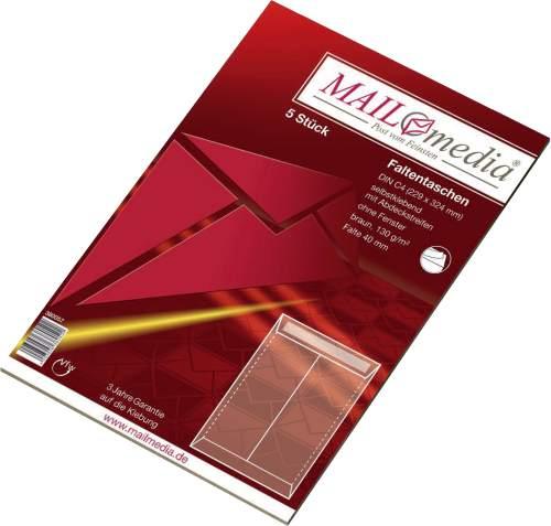 MAILmedia Faltenversandtasche mit Haftklebestreifen, C4