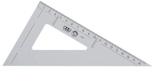 Winkel Spitz 60° 37cm rauchgrau