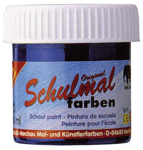 #10xSchulmalfarbe 18ml ultramarin