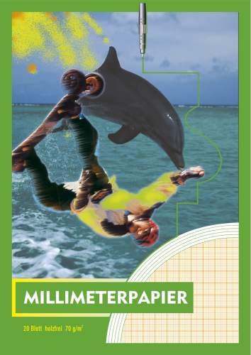 #10xMillimeterpapierblock A4 20BL