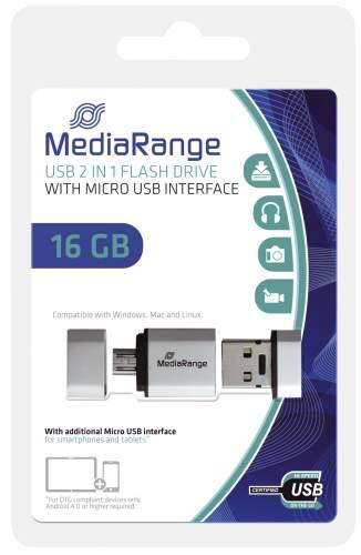 USB Stick 16GB 2.0+MicroUSB