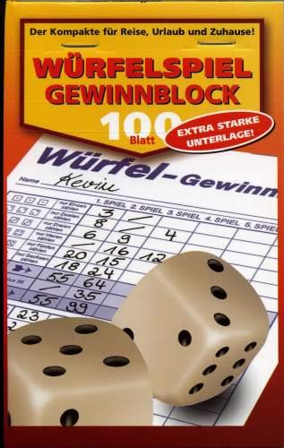 RNK Verlag Würfelspiel-Gewinnblatt, Block, DIN A6