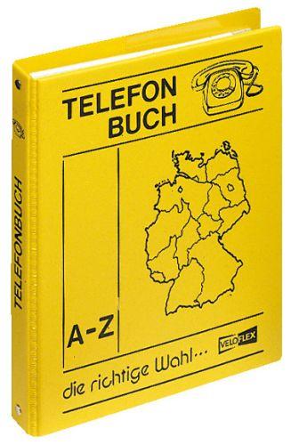 Telefonringbuch A5 4R 16mm gelb
