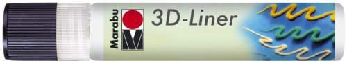 Marabu Relieffarbe 3D-Liner, 3D-weiß, 25 ml