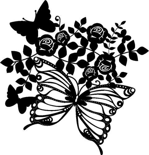 Marabu Silhouetten-Motivschablone Butterflies & Roses
