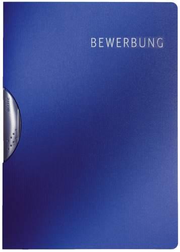 LEITZ Bewerbungsmappe Elegant, DIN A4, Karton, dunkelblau