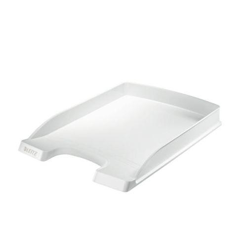 LEITZ Briefablage Plus Flach, DIN A4, Polystyrol, weiß