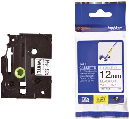 Schriftbandkassette TZ 12mm sw/weiß
