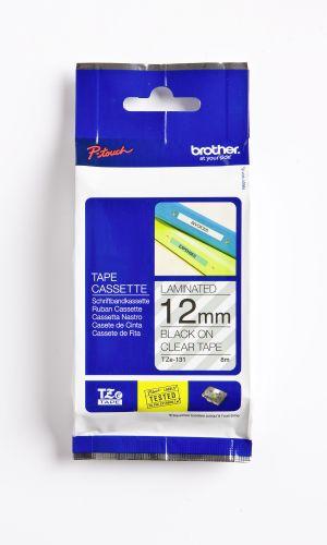 Schriftbandkassette TZ 12mm sw auf farbl