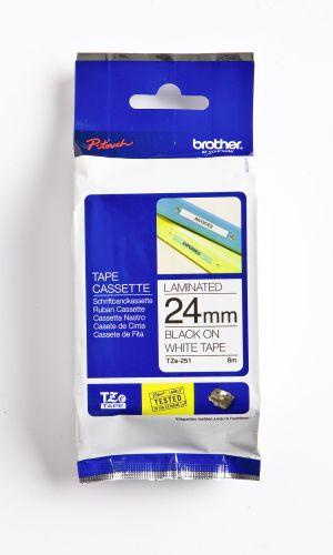 Schriftbandkassette TZ 24mm sw auf weiß