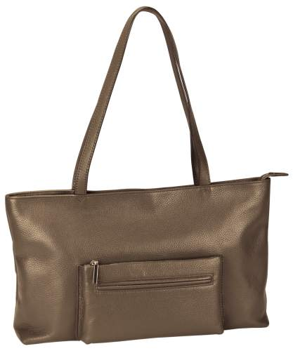 Damen-Shopper Leder braun