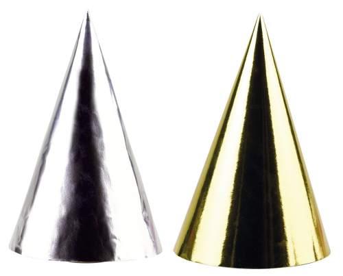 Partyhütchen 8St gold+silber sort.