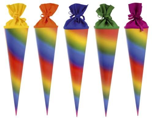 Bastelschultüte 70cm Regenbogen