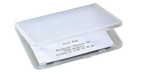 sigel Visitenkarten-Etui Kunststoff, transparent, matt