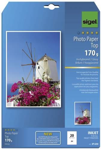 sigel InkJet-Top-Foto-Papier, DIN A4, hochglänzend, 170 ...