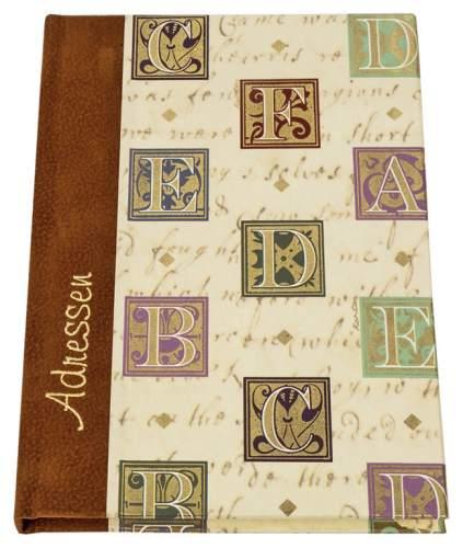 Adressbuch A6 Florentiner Alphabet