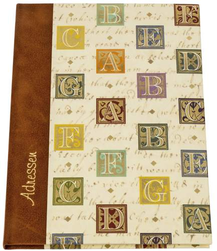 Adressbuch A5 Florentiner Alphabet