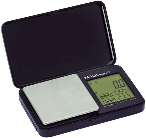 MAUL Taschenwaage MAULpocket II, Tragkraft: 500 g, schwarz